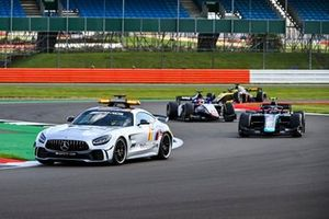 Safety Car leads Dan Ticktum, Dams and Louis Deletraz, Charouz Racing System