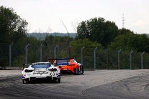 #63 Scuderia Corsa Ferrari 488 GT3, GTD: Cooper MacNeil, Toni Vilander, #74 Riley Motorsports Mercedes-AMG GT3, GTD: Lawson Aschenbach, Gar Robinson