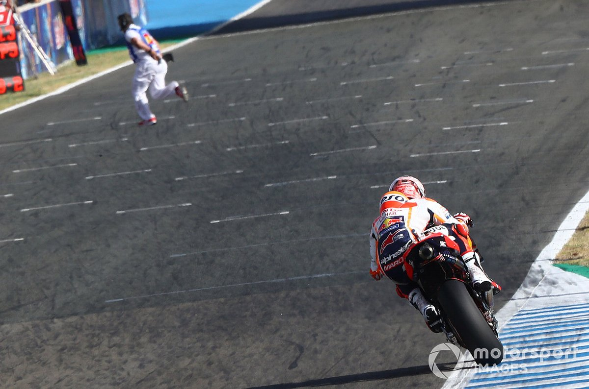 Marc Marquez, Repsol Honda Team, Marshal on track!!