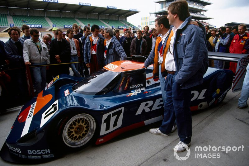 Le Mans 1991: Oscar Larrauri, Jesus Pareja, Walter Brun, Brun C91 Judd