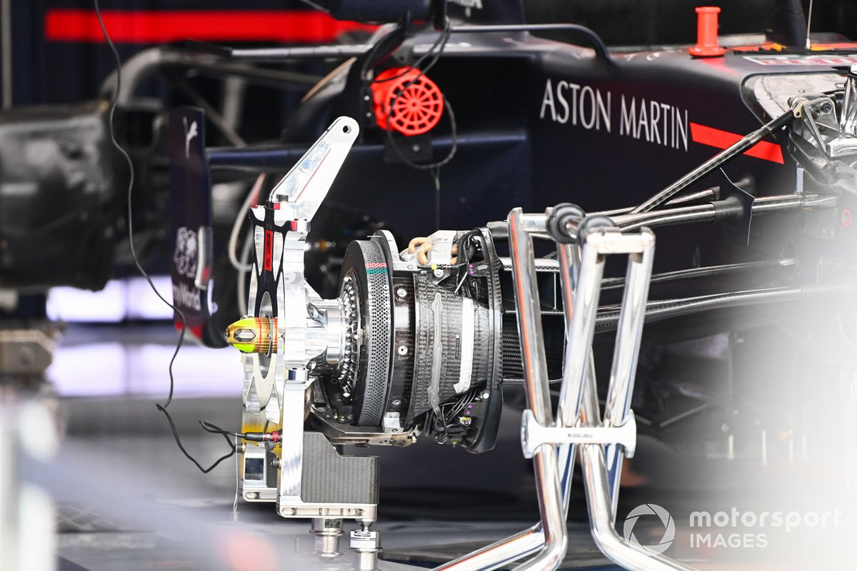 Detalle del freno del Red Bull Racing RB16