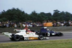 Francois Cevert, Tyrrell 006, Clay Regazzoni, BRM P160E et Jody Scheckter, McLaren M23