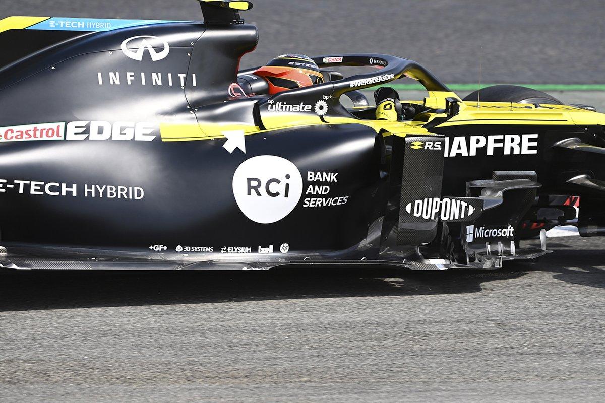 Detalle de refrigeración del Renault F1 Team R.S.20