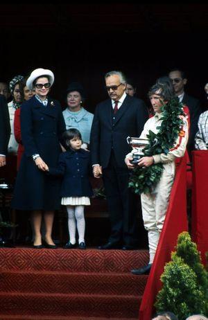 SAS Princesse Grace, SAS Princesse Stéphanie, SAS Prince Rainier III de Monaco et le vainqueur Jochen Rindt, Lotus