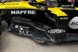 Renault F1 R.S.20, dettaglio del bargeboard