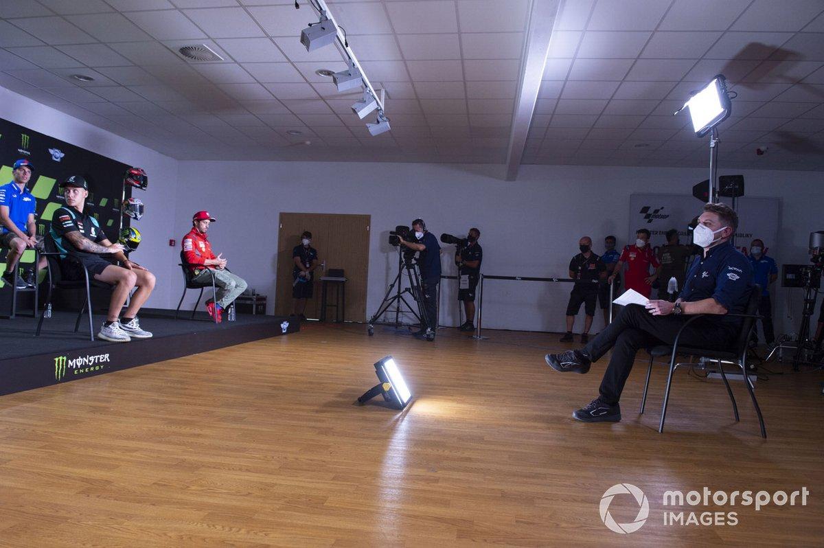 Conferencia de prensa, Takaaki Nakagami, Team LCR Honda, Maverick Viñaales, Yamaha Factory Racing, Valentino Rossi, Yamaha Factory Racing, Fabio Quartararo, Petronas Yamaha SRT, Joan Mir, Team Suzuki MotoGP, Andrea Dovizioso, Ducati Team