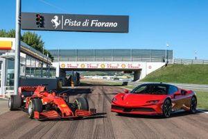 Ferrari SF90 Stradale, Ferrari SF90 di F1, sulla pista di Fiorano