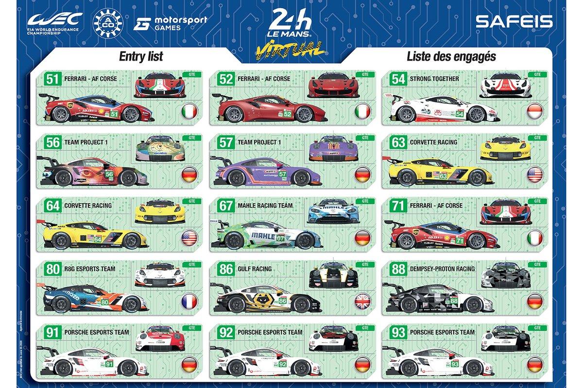 Las decoraciones de los vehículos de las 24h Le Mans virtuales - GTE