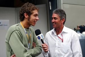 Valentino Rossi, interviewed by Mick Doohan