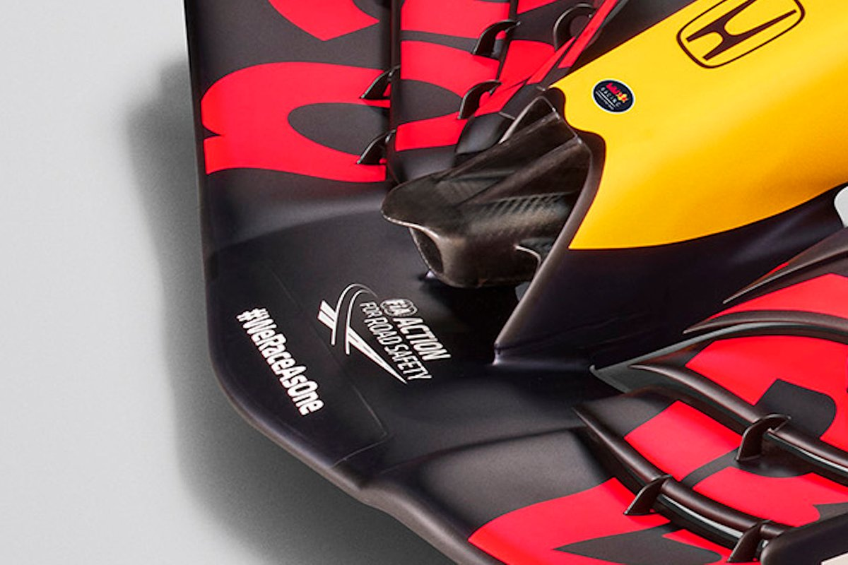 Detalle del morro del Red Bull Racing RB16B
