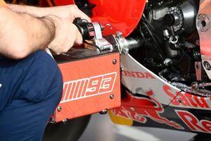 Detalle de la moto de Repsol Honda Team