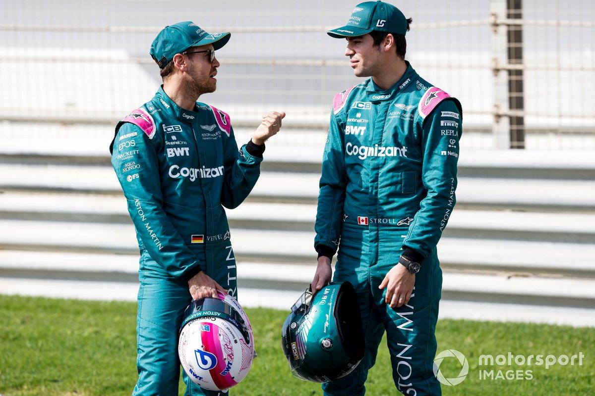 Sebastian Vettel, Aston Martin y Lance Stroll, Aston Martin