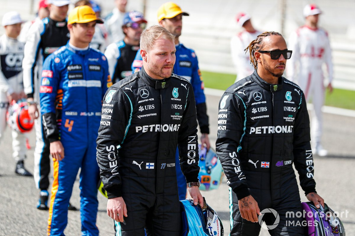 Valtteri Bottas, Mercedes and Lewis Hamilton, Mercedes