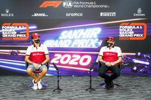 Antonio Giovinazzi, Alfa Romeo, and Kimi Raikkonen, Alfa Romeo