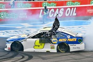 Chase Elliott, Hendrick Motorsports, Chevrolet Camaro NAPA Auto Parts celebrates his Championship