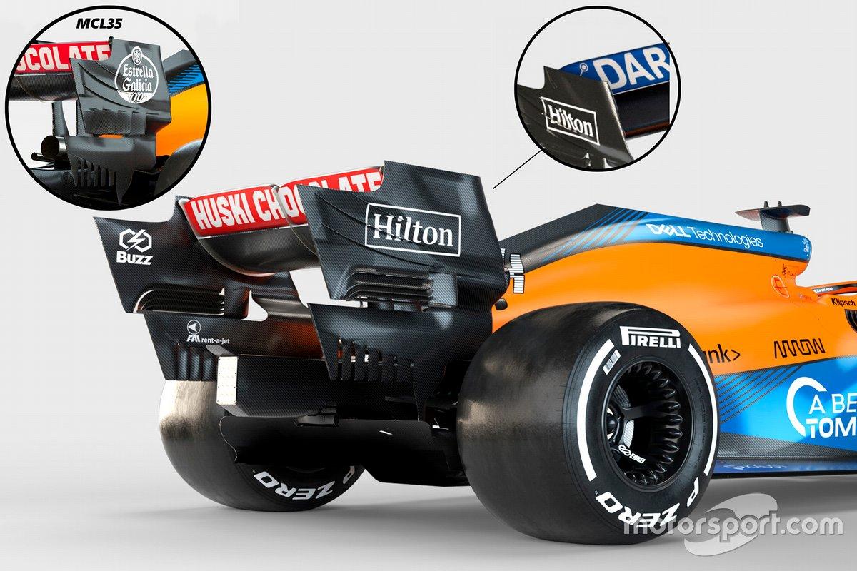 McLaren MCL35M alerón trasero