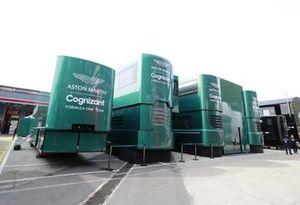 Aston Martin motorhome in the paddock