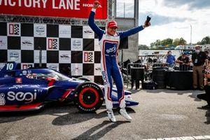 Alex Palou, Chip Ganassi Racing Honda, podium