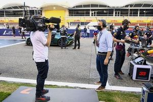 Simon Lazenby, Sky TV, on the grid prior to the start