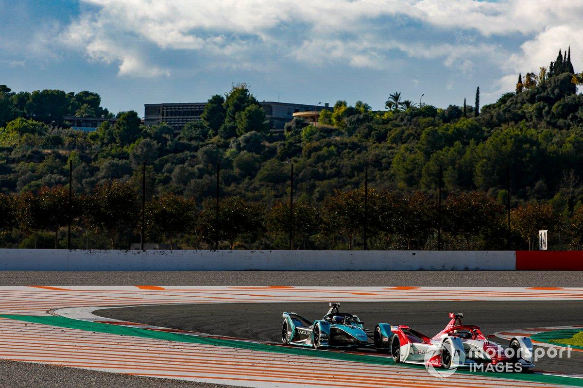 Sergio Sette Camara, Dragon Penske Autosport, Penske EV-4, Sam Bird, Panasonic Jaguar Racing, Jaguar I-Type 5