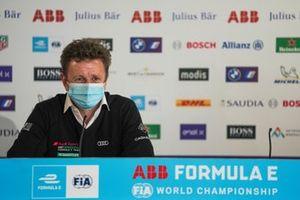 Allan McNish, Team Principal, Audi Sport Abt Schaeffler, en conférence de presse