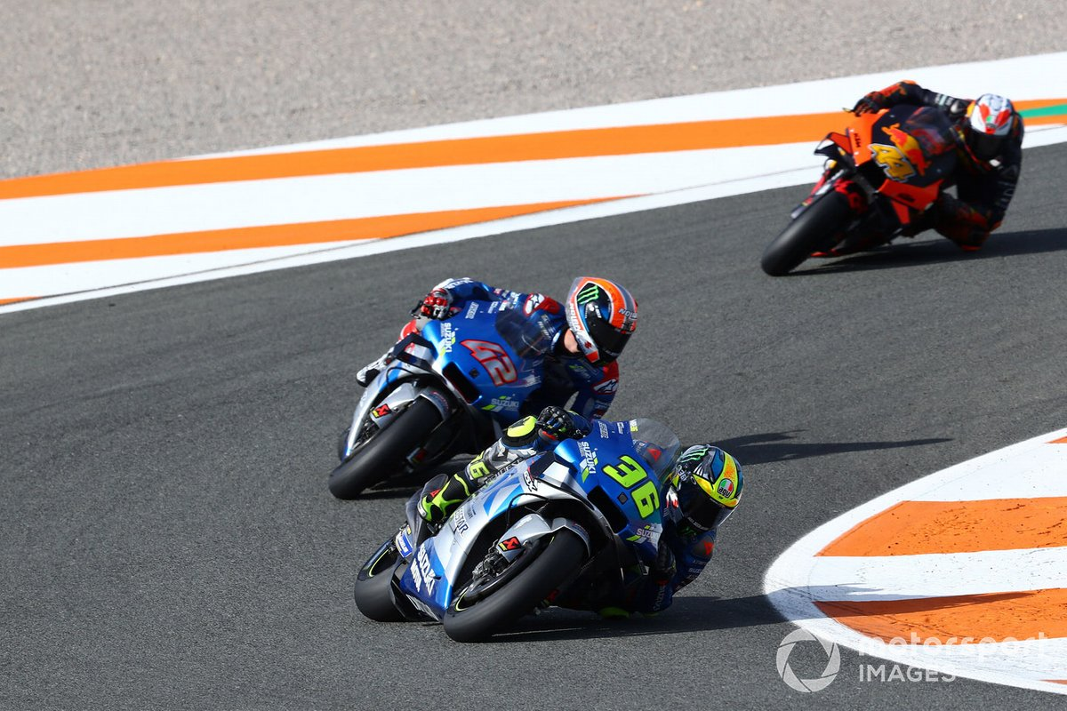 Joan Mir, Team Suzuki MotoGP, Alex Rins, Team Suzuki MotoGP, Pol Espargaro, Red Bull KTM Factory Racing