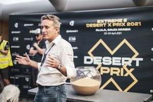 Alejandro Agag, CEO, Extreme E, speaks in the command centre