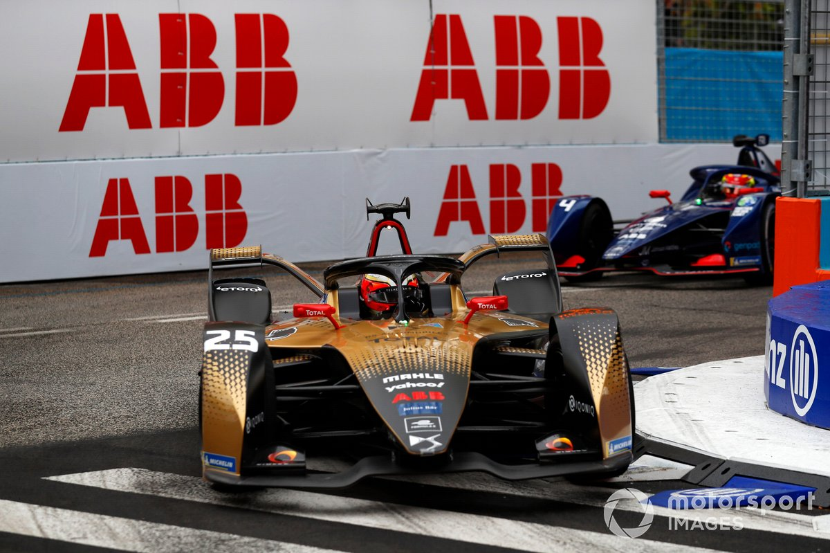 Jean-Eric Vergne, DS Techeetah, DS E-Tense FE21, Robin Frijns, Envision Virgin Racing, Audi e-tron FE07