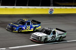 Ben Rhodes, ThorSport Racing, Toyota Tundra Bombardier Learjet 75, Todd Gilliland, Front Row Motorsports, Ford F-150 Speedco