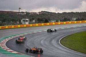 Daniil Kvyat, AlphaTauri AT01, Pierre Gasly, AlphaTauri AT01, Charles Leclerc, Ferrari SF1000, and Lando Norris, McLaren MCL35
