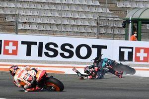 Caduta di Fabio Quartararo, Petronas Yamaha SRT