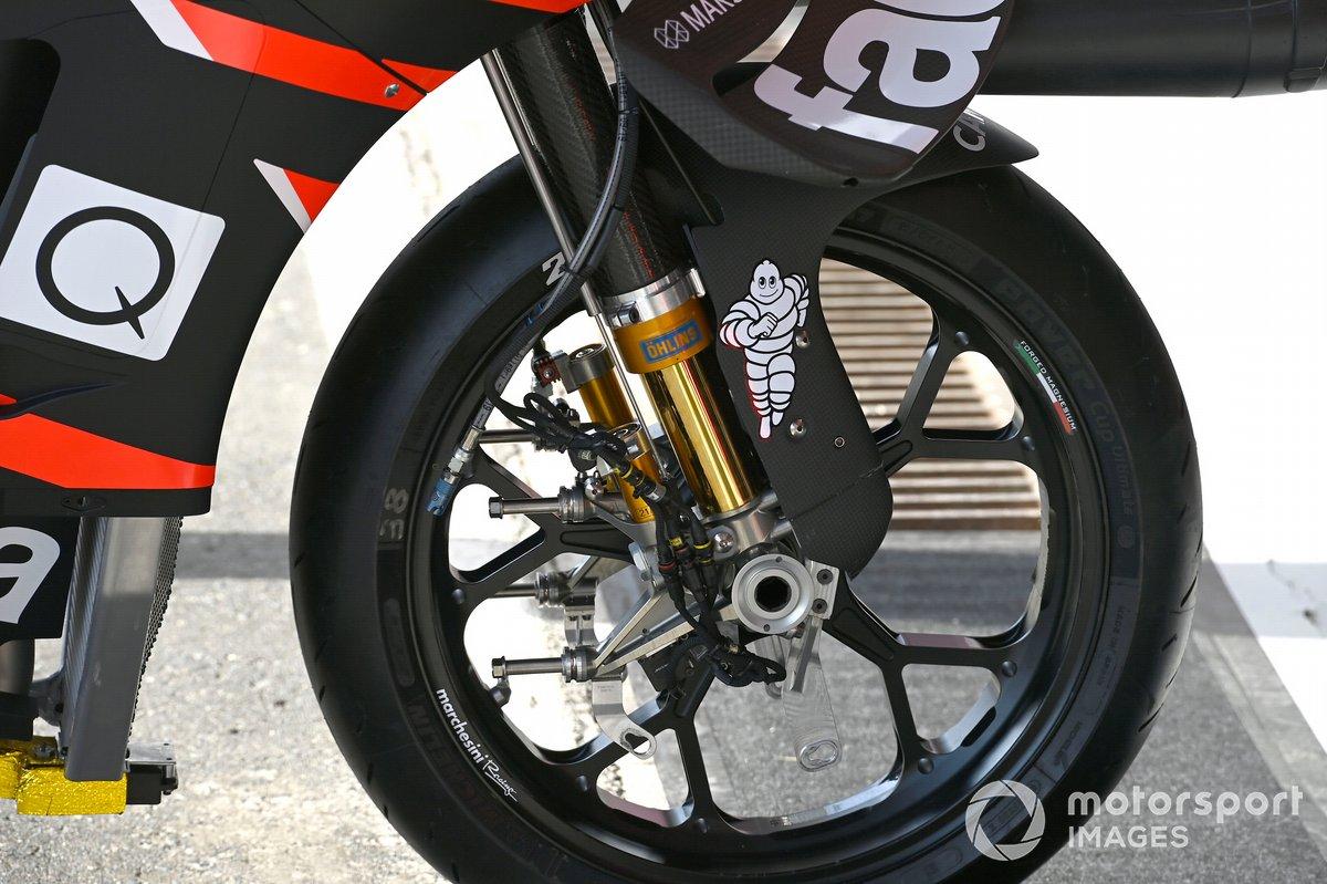 Detalle de la moto de Aprilia Racing Team Gresini