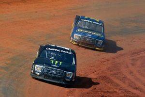 Hailie Deegan, Team DGR, Ford F-150 Monster Energy and Todd Gilliland, Front Row Motorsports, Ford F-150 Speedco
