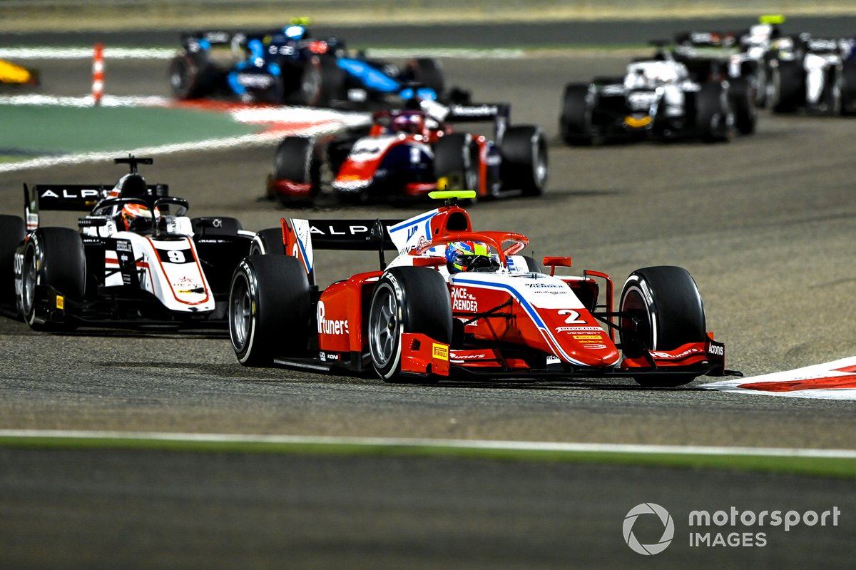 Oscar Piastri, Prema Racing, precede Christian Lundgaard, ART Grand Prix