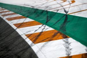 Tyre marks on a kerb