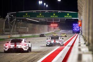 #92 Porsche GT Team Porsche 911 RSR: Michael Christensen, Kevin Estre, #91 Porsche GT Team Porsche 911 RSR: Richard Lietz, Gianmaria Bruni