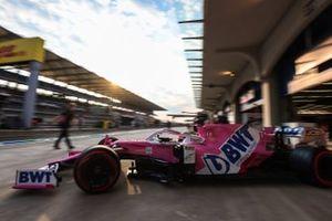 Sergio Perez, Racing Point RP20, esce dal garage