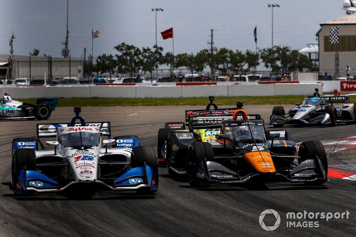 Graham Rahal, Rahal Letterman Lanigan Racing Honda, Pato O'Ward, Arrow McLaren SP Chevrolet