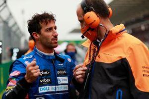 Daniel Ricciardo, McLaren, on the grid