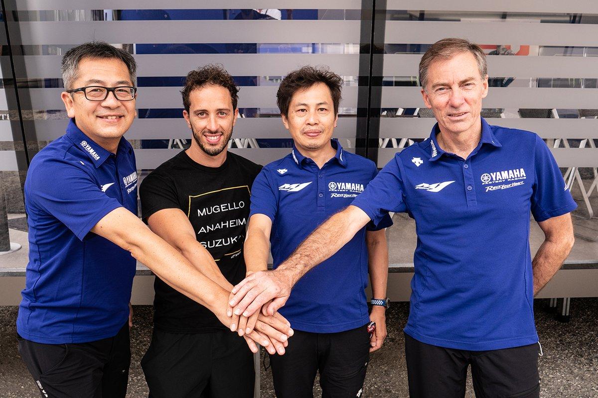 Andrea Dovizioso, Yamaha, Lin Jarvis, Managing Director Yamaha