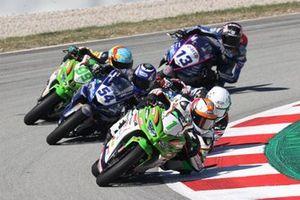 Jeffrey Buis, MTM Kawasaki, Samuel Di Sora, Leader Team Flembbo et Bahattin Sofuoglu, Biblion Yamaha Motoxracing
