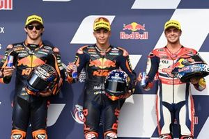 Remy Gardner, Red Bull KTM Ajo, Raul Fernandez, Red Bull KTM Ajo, Fabio di Giannantonio, Federal Oil Gresini Moto2