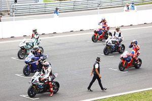 Tom Sykes, BMW Motorrad WorldSBK Team, Garrett Gerloff, GRT Yamaha WorldSBK Team, Chaz Davies, Team GoEleven, Leon Haslam, Team HRC, Michael van der Mark, BMW Motorrad WorldSBK Team , Alvaro Bautista, Team HRC