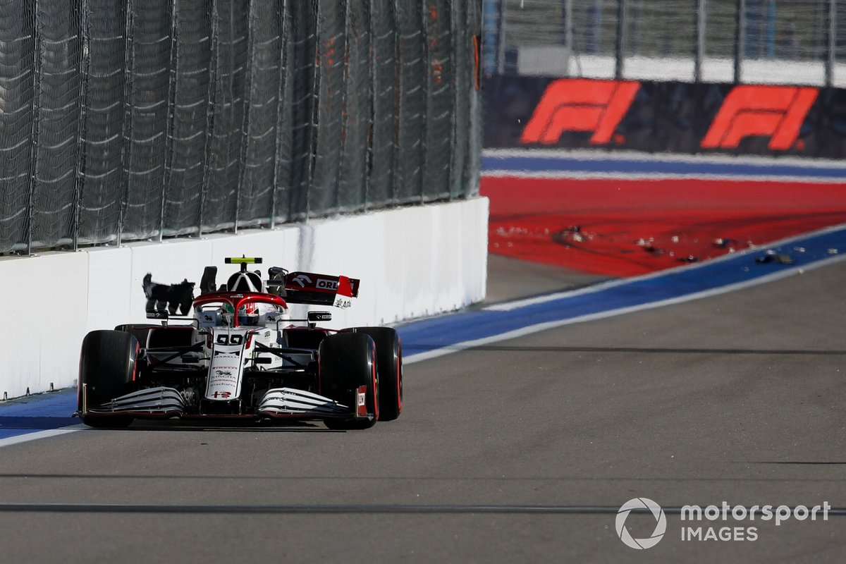 L'incidente di Antonio Giovinazzi, Alfa Romeo Racing C41 durante le prove libere