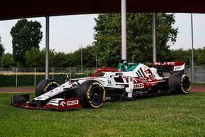Decoración especial del Alfa Romeo C41 para el GP de Italia