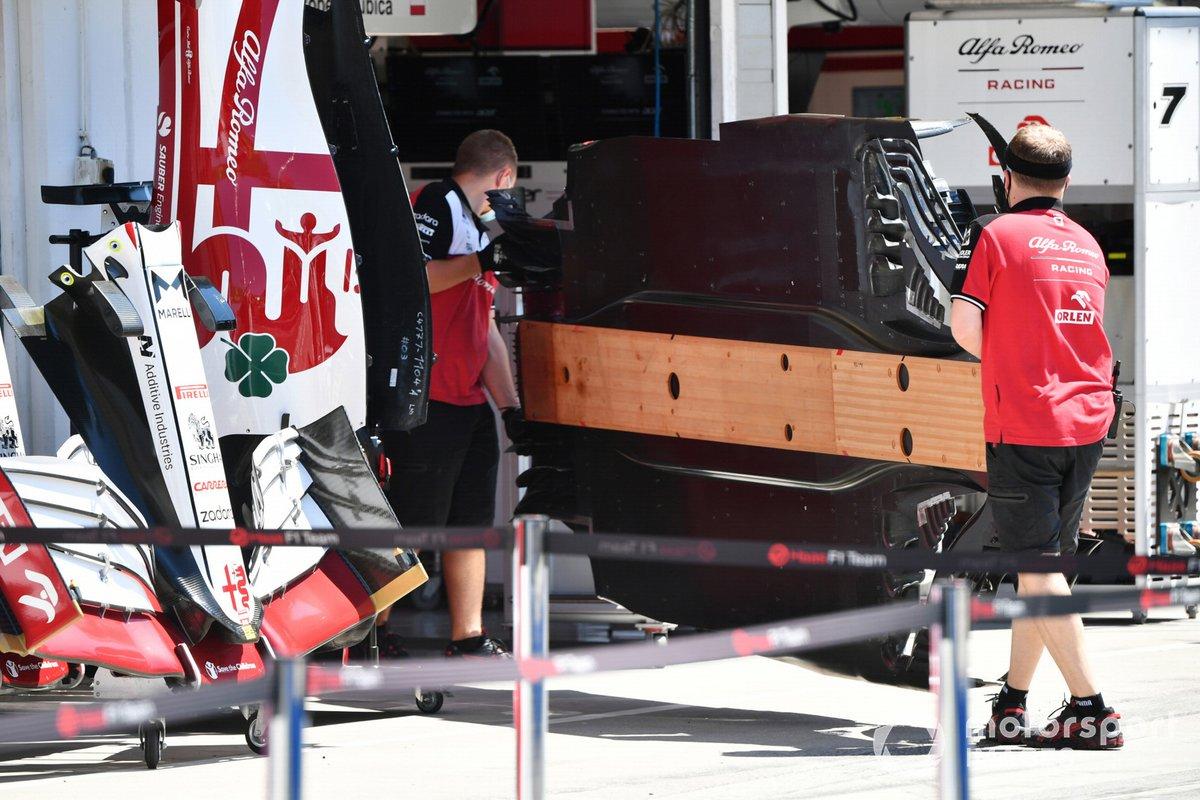 Un fondo del Alfa Romeo Racing C41