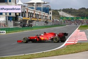 Charles Leclerc, Ferrari SF21, recovers after a spin