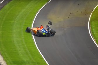 Авария: Фернандо Алонсо, McLaren Chevrolet