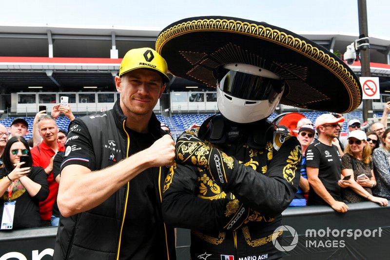 Nico Hulkenberg, Renault F1 Team y Mario Achi, promotor GP de México