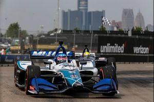 Takuma Sato, Rahal Letterman Lanigan Racing Honda, Spencer Pigot, Ed Carpenter Racing Chevrolet